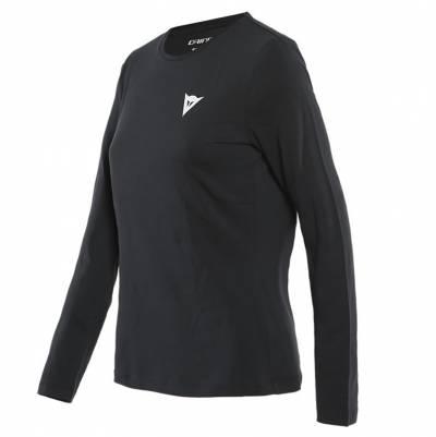 Dainese Shirt Paddock Lady LS, schwarz-weiß