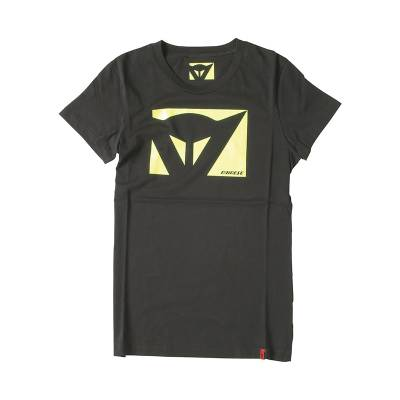 Dainese T-Shirt Color New Lady, schwarz-gelbfluo.