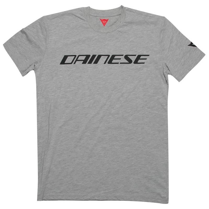Dainese T-Shirt, grau-melange-schwarz