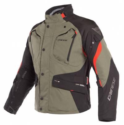 Dainese Textiljacke Dolomiti Gore-Tex®, olivgrün-schwarz-rot