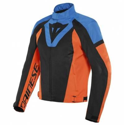 Dainese Textiljacke Levante Air Tex, schwarz-blau-orange