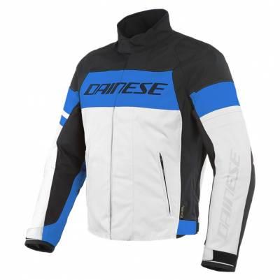 Dainese Textiljacke Saetta D-Dry®, weiß-blau-schwarz
