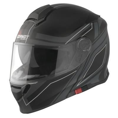 Germot GM 950 Klapphelm, schwarz-grau-weiß matt