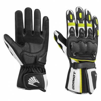 Germot Handschuhe Racetrack, schwarz-gelb