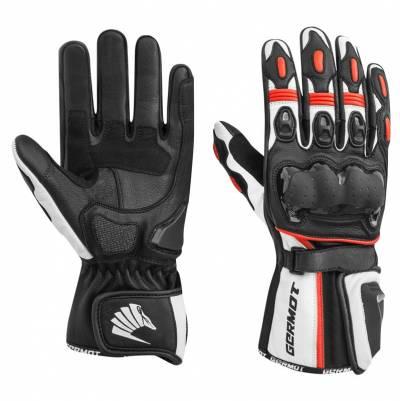 Germot Handschuhe Racetrack, schwarz-rot