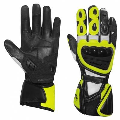 Germot Handschuhe Supersport 2, schwarz-weiß-gelb