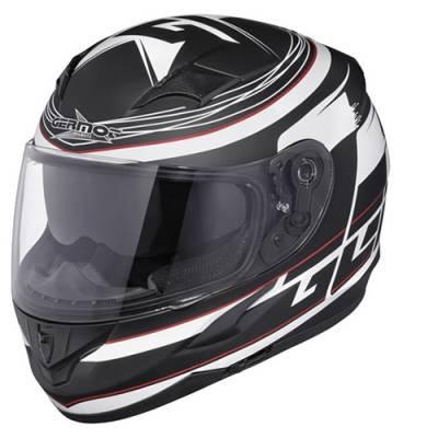 Germot Helm GM 306 Integral, matt schwarz-weiß