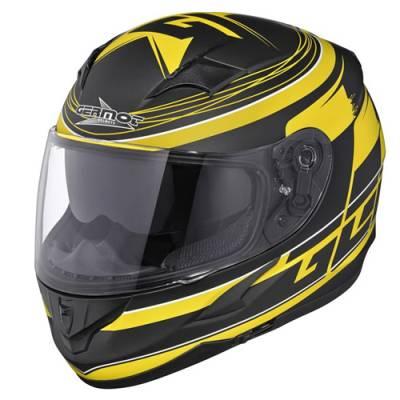 Germot Helm GM 306 Integral, schwarz-gelb matt