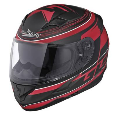 Germot Helm GM 306 Integral, schwarz-rot matt