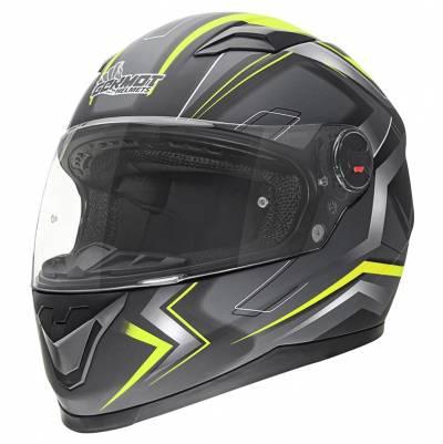 Germot Helm GM 320, schwarz-gelb-matt