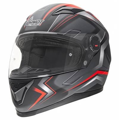 Germot Helm GM 320, schwarz-rot-matt