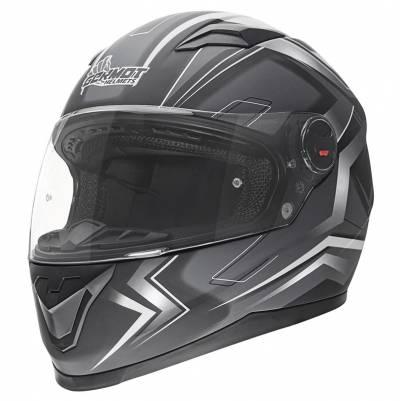 Germot Helm GM 320, schwarz-weiß-matt
