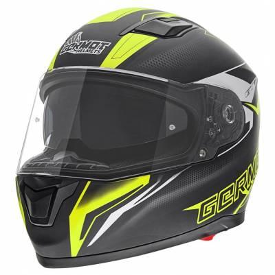 Germot Helm GM 330, schwarz-fluogelb-matt