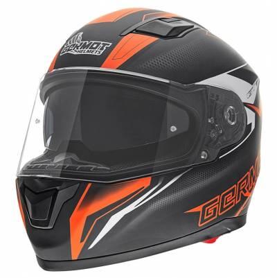 Germot Helm GM 330, schwarz-orange-matt