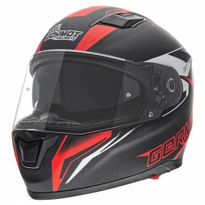 Germot Helm GM 330, schwarz-rot-matt