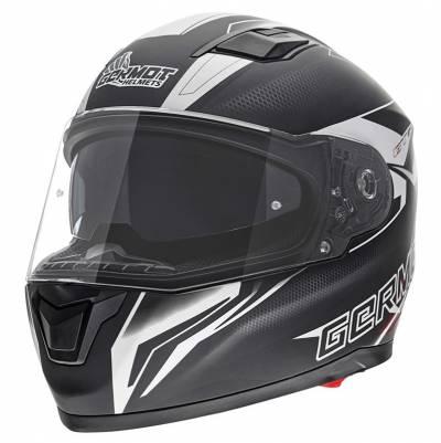 Germot Helm GM 330, schwarz-weiß-matt