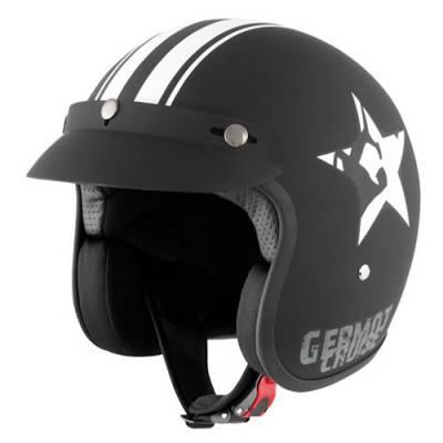 Germot Jethelm GM 77 Star, matt schwarz-weiß