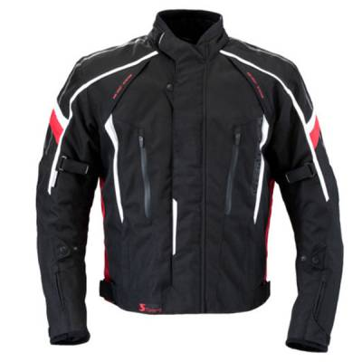 Germot Textiljacke Supersport, schwarz-rot