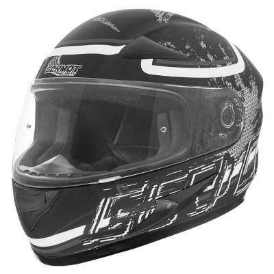 Germot Übergrößen Helm GM 720, schwarz-weiß-grau matt