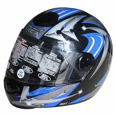 Grex B-Ware - Helm G06 2 , Decor #38, schwarz-blau-grau