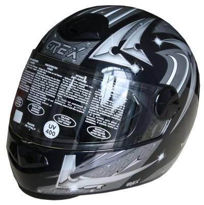 Grex B-Ware - Helm G06 2 , Decor #41, schwarz-grau