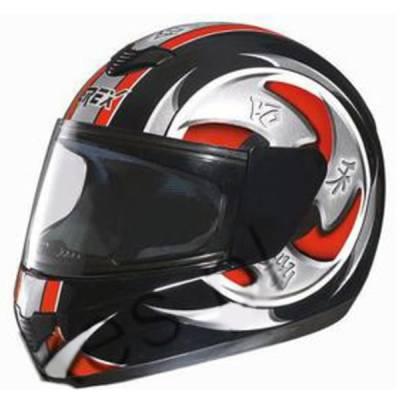 Grex B-Ware - R1 Helm Decor #15, schwarz-rot-weiß