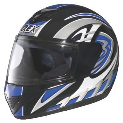 Grex B-Ware - R1 Helm Decor #18, schwarz-blau-weiß