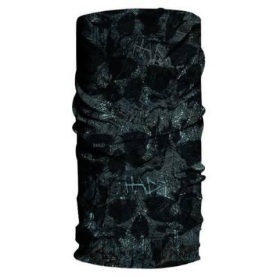 HAD Originals - Multifunktionstuch Skull Dust, grün-schwarz