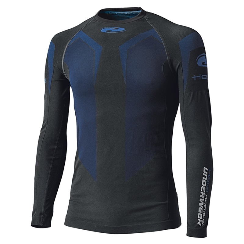 Held Damen Funktionshemd Cool Top 3D-Skin langarm, schwarz-blau