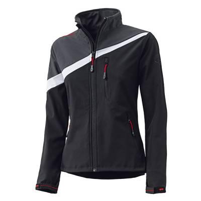 Held Damen Jacke Softshell, schwarz-grau-weiß