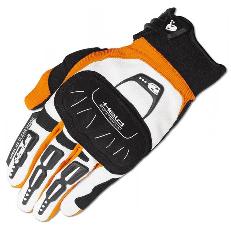 Held Handschuh Backflip, weiß-orange