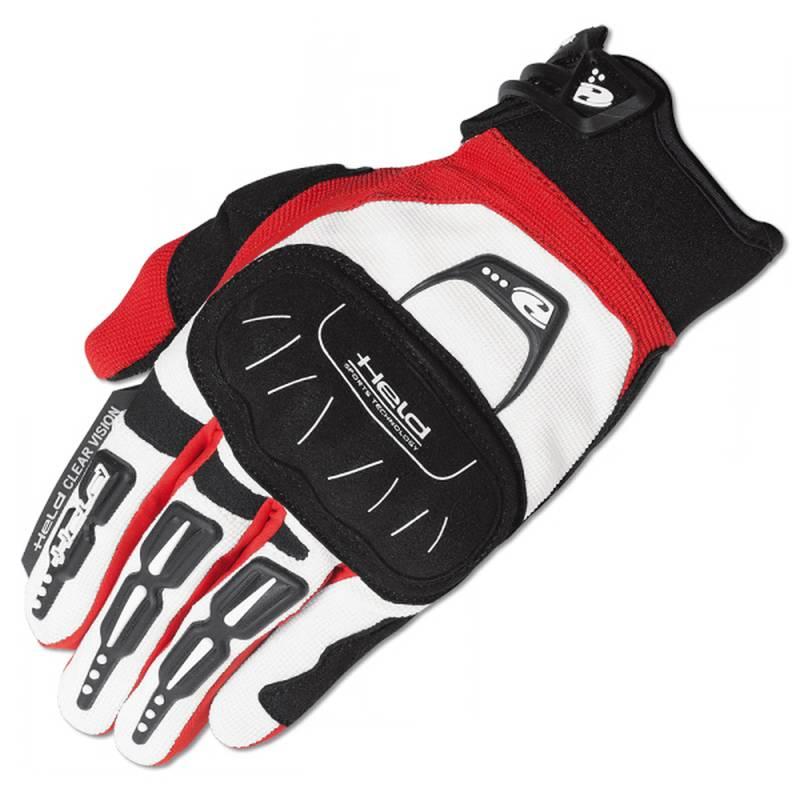 Held Handschuh Backflip, weiß-rot
