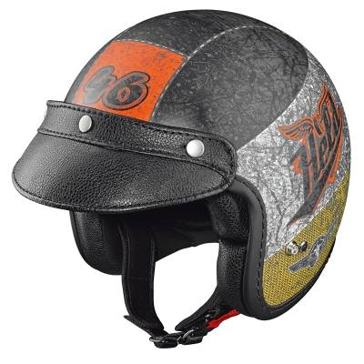 Held Helm Black Bob, Design crushed black