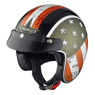 Held Helm Black Bob, Design Flag schwarz
