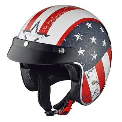 Held Helm Black Bob, Design Flag weiß