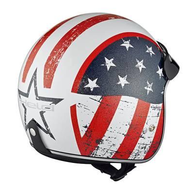 Held Helm Black Bob, Design Flag weiß