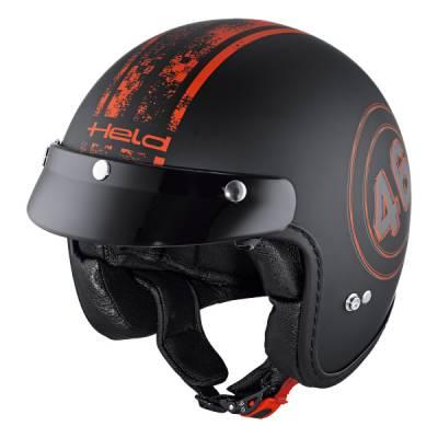 Held Helm Black Bob, schwarz-rot