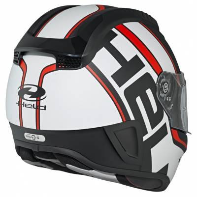 Held Helm H-SR2 Race by Schuberth, schwarz-weiß-rot