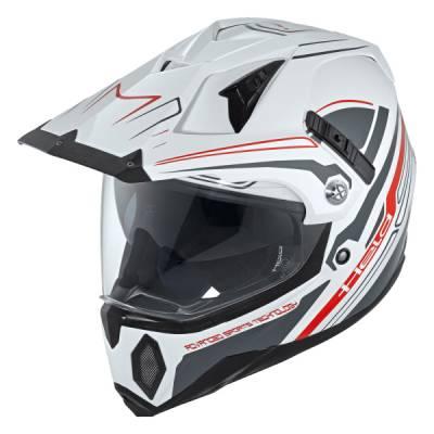 Held Helm Makan, weiß-schwarz