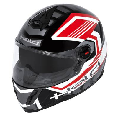 Held Helm Scard, schwarz-rot