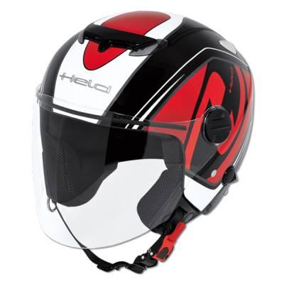 Held Helm Top Spot, schwarz-rot