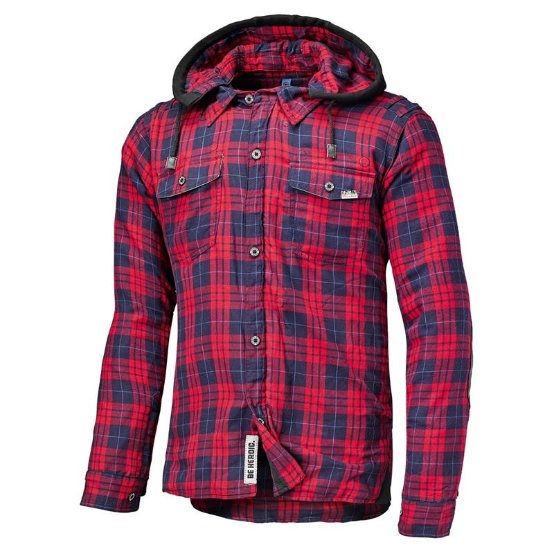 Held Hemd Lumberjack, rot-azur