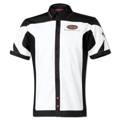 Held Hemd Team, weiß-schwarz