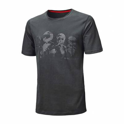 Held Herren T-Shirt Be Heroic, schwarz-grau