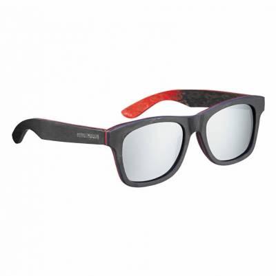 Held Holz-Sonnenbrille, silber verspiegelt
