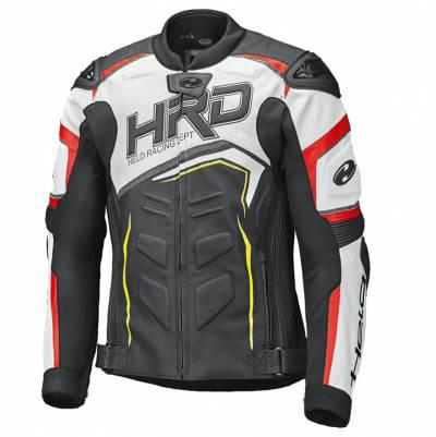 Held Lederjacke - Safer II, schwarz-weiß-rot