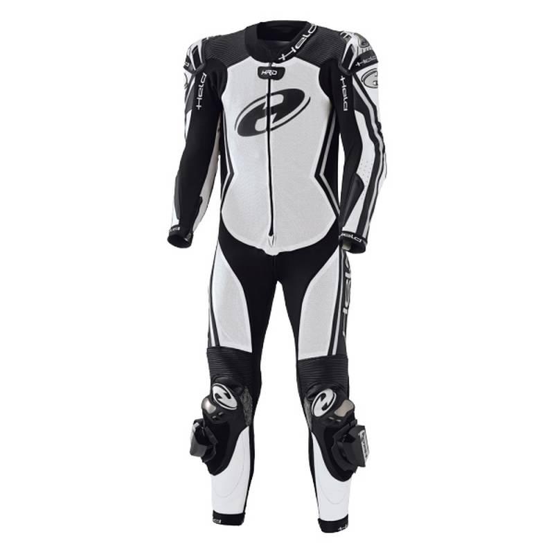 Held Lederkombi - Full-Speed, weiß-schwarz