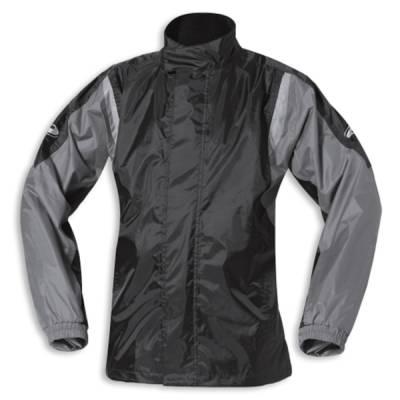 Held Regenjacke Mistral 2, schwarz-silber