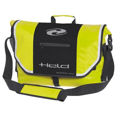 Held Umhängetasche City Bag Messenger, schwarz-neongelb