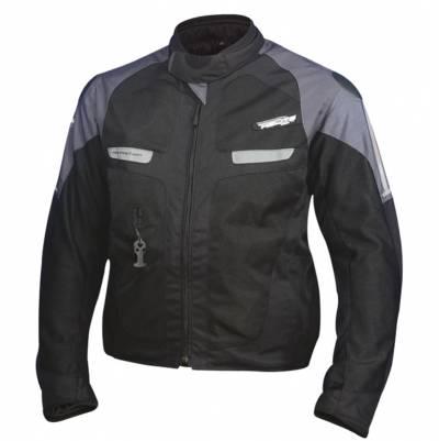 Helite Airbag-Textiljacke Vented 2.0, schwarz-blaugrau
